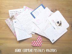 dónde comprar postales viajeras Mail Ideas, Ideas Geniales, Shopping, Studio