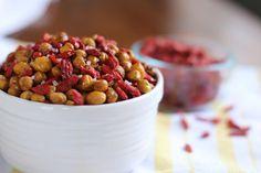 Roasted Garbanzo Beans with Sea Salt & Goji Berries - Beth on a Diet