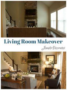 Living Room Makeover From Jennifer Decorates
