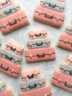 Bon Voyage / Travel luggage Cookies One Dozen Decorated