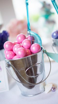 colored pearls...gumballs or chocolates