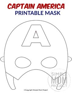 Free Printable Superhero Face Masks for Kids Planning a superhero theme party? Use this FREE printable DIY Captain America Mask template! This Captain America coloring page is perfect for birthday party favors or even a Halloween costume! Captain America Maske, Captain America Party, Captain America Birthday, Diy Captain America Costume, Printable Masks, Templates Printable Free, Printables, Superhero Mask Template, Carnival