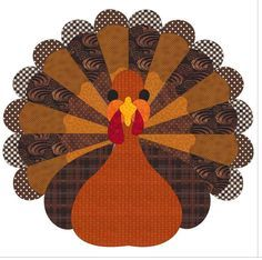 This free quilt pattern makes an adorable Thanksgiving Turkey. Enjoy!