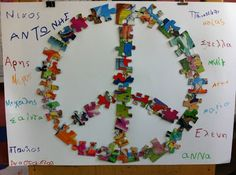 fun-tastic 14: 28η Οκτωβρίου - Κατασκευές Peace Crafts, 28th October, School Tool, Remembrance Day, Art Activities, Cool Art, Arts And Crafts, Fun, Kindergarten