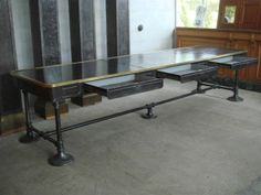 Bank of France iron table