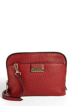 3be946385b9c1a $795, Burgundy Leather Crossbody Bag: Burberry Harrogate Small Leather  Crossbody Bag Military Red.