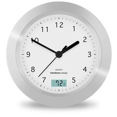Trendworx 4044 2 Suction Cup Bathroom Clock With Digital Thermometer Check This Awesome Product