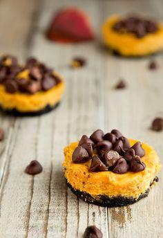 Pumpkin Brownie Cheesecakes