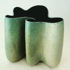 TECTONIC PLATES | Bente Hansen   #bentehansen #bentehansenstentøj #ceramicart #modernism #minimalism #interiordecor #clayart #ilovegreen #interioraccents #interioraccesories #undulating #ceramicsdesign #ceramicvase #ceramicartist