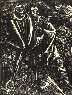 "Ernst Barlach woodcut ""Faust and Mephistopheles II""  I did research project on this a year ago..."
