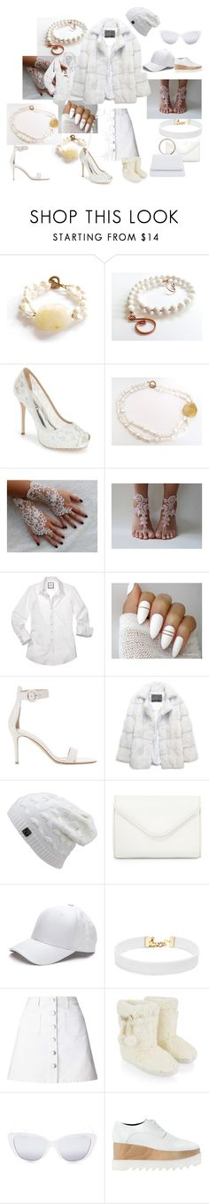 """white, white accessories"" by tiziana-tarquini ❤ liked on Polyvore featuring Badgley Mischka, Gianvito Rossi, Lilly e Violetta, Neiman Marcus, Vanessa Mooney, Miss Selfridge, Accessorize, Elizabeth and James, STELLA McCARTNEY and white"