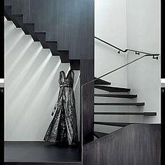 The Art of Living: Paris Triplex by Elliott Barnes betonoptik Interior Design Magazine, Modern Interior Design, Architectural Digest, Residential Architecture, Interior Architecture, Compact Stairs, Stair Lift, Stair Case, Stair Handrail