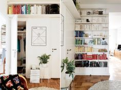 color coded book shelves