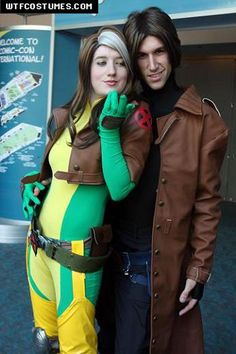 Classic Rogue and Gambit Costumes. Note to my future boyfriend: We will be cosplaying this.