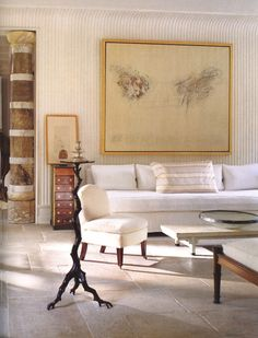 "Proclaimed by Karl Lagerfeld as ""The chicest house in America"", Stephen Sills and James Huniford set a new standard in the lexicon of American chic at their Bedford, New York, residence in the Photo by Thibault Jeanson. Home Interior, Modern Interior Design, Interior And Exterior, Interior Decorating, Decorating Ideas, Cy Twombly, Style At Home, Houses In America, Home Fashion"