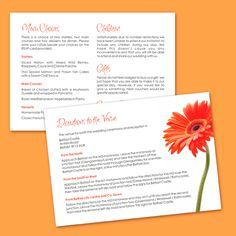 Guest Info Card Wedding - Burnt Orange Gerbera - Wedding Invitations by Wickedly Innocent