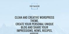 Voyager Wordpress Theme, Create Yourself, Cards Against Humanity, Creative, Blog, Travel, Blogging