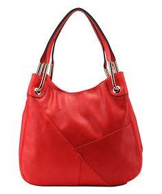 Coral Reef Delle Shoulder Bag...Asymmetrical seams and sleek hardware    ~Zulily find!!