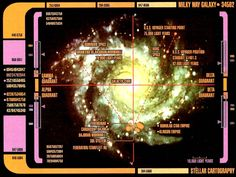 LCARS map of the Milky Way Galaxy, Star Trek