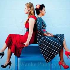 Photograhy, senior portraits, photos ideas, pin up, swing, best friends, polka dot, vintage