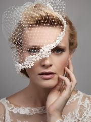 Dee Dee Bridal, Lovebird - Tiny pearls add delicate detailing to the hand sewn ivory birdcage veil. Bridal Veils And Headpieces, Fascinators, Bronze Wedding, My Wedding Favors, Wedding Headdress, Wedding Veils, Bridal Hat, Bride Hair Accessories, Wedding Hair Inspiration