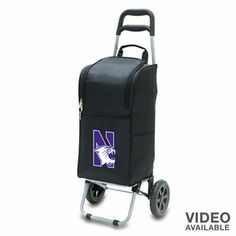 Let the good times roll with this Northwestern Wildcats cart cooler. Its insulated tote can be easily removed from the trolley for quick carrying to your picnic, tailgate gathering and more. Pack up all your favorite beverages, snacks and more in this Northwestern Wildcats cart cooler.