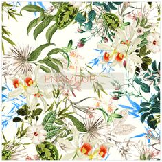 A collection of high end tropical prints designed for high street retail brands.