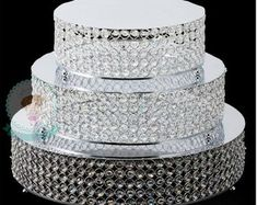 House of Hampton Mummert Crystal 3 Piece Cake Stand Set Bling Wedding Cakes, Wedding Cake Stands, Amazing Wedding Cakes, Bling Wedding Centerpieces, Lace Wedding, Quinceanera Centerpieces, Quinceanera Party, Centrepieces, Wedding Dresses