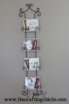 For this cute canvas photo wall hanging Plate Hangers, Plate Racks, Plate Holder, Photo Wall Hanging, Do It Yourself Inspiration, Photo Canvas, Canvas Photos, Photo Craft, Diy Photo