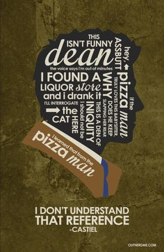 SuperNatural (Castiel) Inspired Quote Poste www by outnerdme on ...