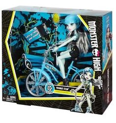 Mattel Monster High 2016 Frankie Stein Boltin' Bicycle Doll New in Hand | eBay