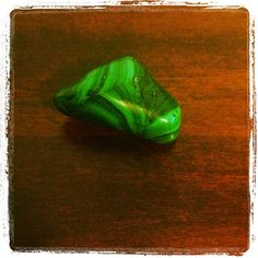 Malachite is the crystal for the day. Great for the heart chakra, as most green stones are, and aides in building self-confidence and emotional clarity. Since malachite also helps enhance personal will power, it's very effective in stimulating the 3rd chakra as well. #crystals #reiki #energyhealing