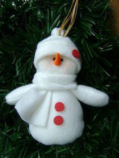 VillarteDesign Artesanato: Boneco de Neve em Plush – Dica de artesanato e decoração para o natal