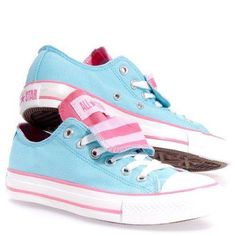 Cute and Trendy Athletic Shoes for Girls Converse Women's All Star Chuck Taylor Double Tongue Ox Casual Shoe White, Aqua Converse All Star, Cute Converse Shoes, Baskets Converse, Converse Sneakers, Cute Shoes, Me Too Shoes, Converse High, Blue Converse, Colored Converse