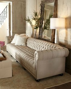 Tufted sofa from Horchow