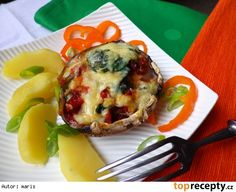 Plněné žampiony Portobello Eggs, Breakfast, Food, Morning Coffee, Essen, Egg, Meals, Yemek, Egg As Food