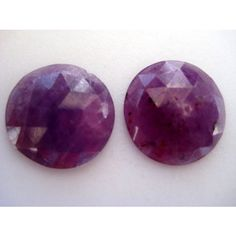 Ruby  Ruby Rose Cut  Matched Pairs  Faceted by gemsforjewels, $24.00