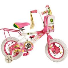 c697659311a John Deere 12 Girls Bike Pink Kids Outdoor Play Game Ride on Tricycle Toy  New