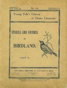 Stories and Rhymes of Birdland 1898