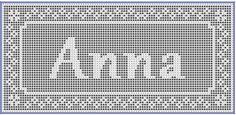 Filet Crochet Name Doily Pattern - by StitchMeKnot.com