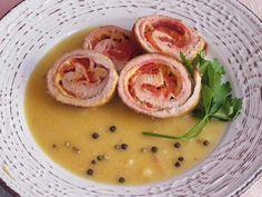 Χοιρινά σνίτσελ γεμιστά με σάλτσα μελιού και μουστάρδας Chicken, Meat, Food, Essen, Meals, Yemek, Eten, Cubs