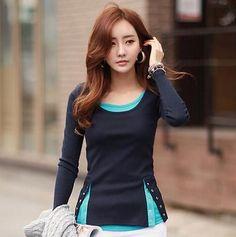 Womens Long Sleeve Tops Tee Shirt