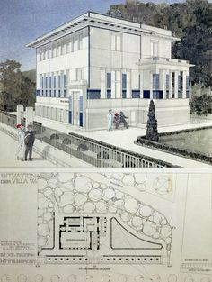 Otto Wagner Watercolor