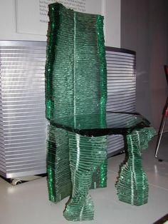 glass chair. London, England: Victoria and Albert Museum: glass chair (1988, by Danny Lane)