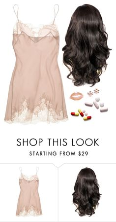 """""""tonight is just one night - last"""" by annefs1 ❤ liked on Polyvore featuring Carine Gilson and Marchesa"""