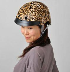 Sawako Furuno modelling her own helmet
