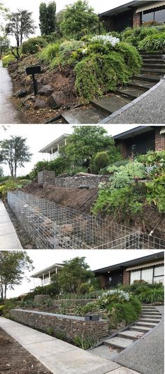 Gabion wall transforms the landscape http://www.gabion1.com.au