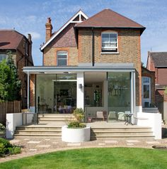 Modern addition to old house exterior contemporary  with glass extension large glass