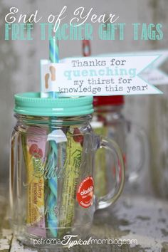 LOVE this idea! Perfect for Teacher's appreciation week or an end of school gift! Love gifts that are practical and fun. (Free Printable)