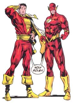 Captain Marvel & Flash